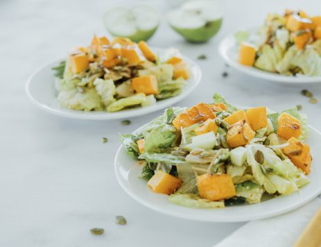 Roasted Butternut Squash and Apple Salad
