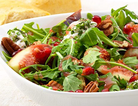 Arugula Pomegranate Salad with Pecans and Figs
