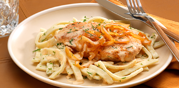 chicken paprikash with dill noodles  what's for dinner