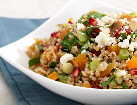 Chopped Spinach, Mint and Cracked Wheat Salad