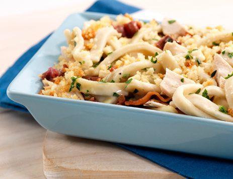 Crispy Parmesan Chicken Noodle Casserole