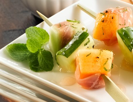 Cucumber and Melon Skewers