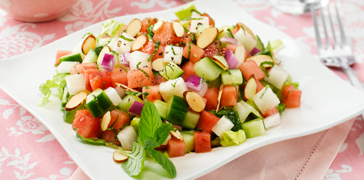 Cucumber Melon Salad What S For Dinner 1 cantaloupe, halved, seeded, peeled, 3 tablespoons fresh lime juice, 3 tablespoons chopped fresh mint, 2 teaspoons grated lime peel, 2 tablespoons sugar, 2 1/2 teaspoons grated peeled fresh ginger, 2 teaspoons honey. cucumber melon salad