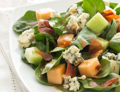Melon Spinach Salad