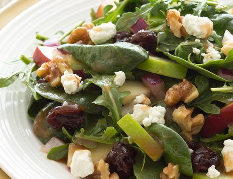 Mixed Greens with Apples, Red Onion & Toasted Walnuts