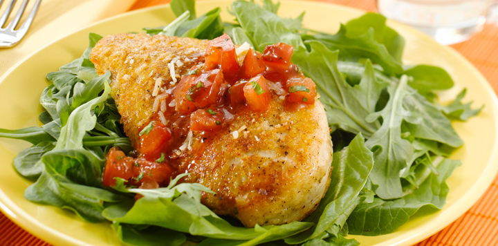Parmesan Crusted Chicken With Tomato Relish What S For Dinner,Table Decoration Ideas For Mens Birthday Party
