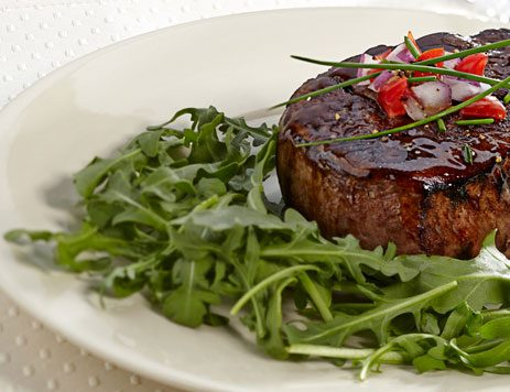 Seared Filet of Beef with Arugula Salad
