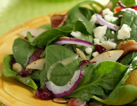 Spinach Salad With Pumpkin Seeds