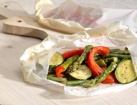 Steamed Vegetable Pouches