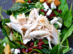 Winter Salad with Chicken and Pomegranate Seeds