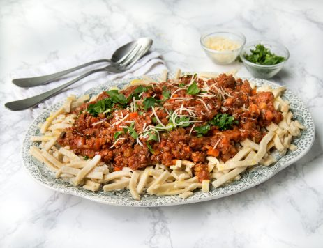 Ground Beef Ragù With Egg Noodles