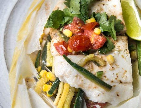 Fish and Vegetables Baked in Parchment
