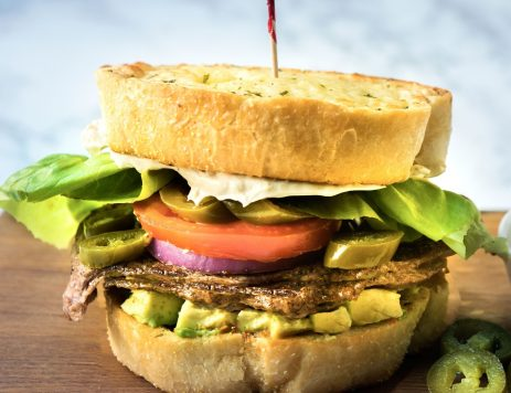 Mexican Steak Sandwich With Avocado and Tomato