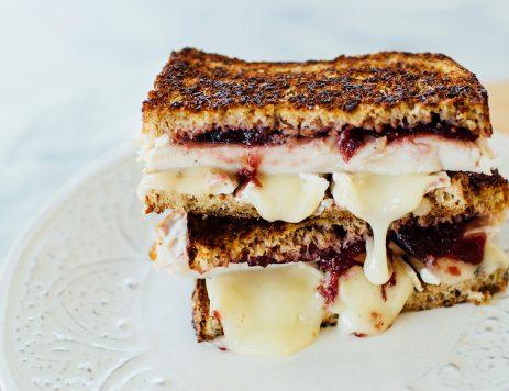 Grilled Turkey, Cranberry & Brie Sandwich