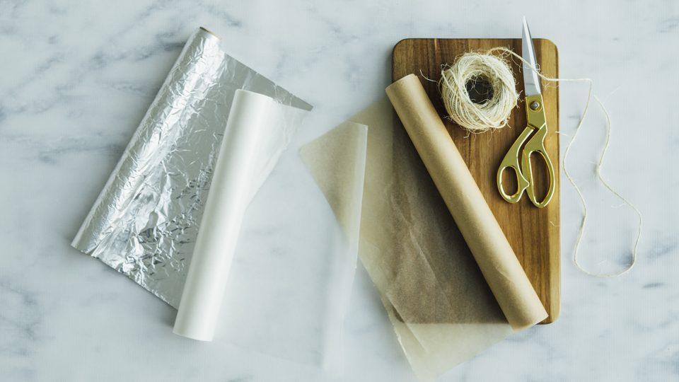 parchment papers versus wax paper versus aluminum foil