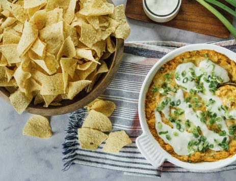 Vegetarian Buffalo Chickpea Dip