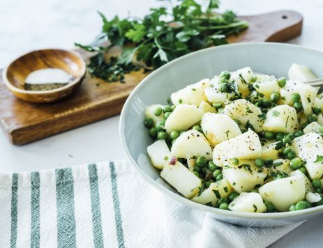 Lemon Herb Potato Salad With Peas
