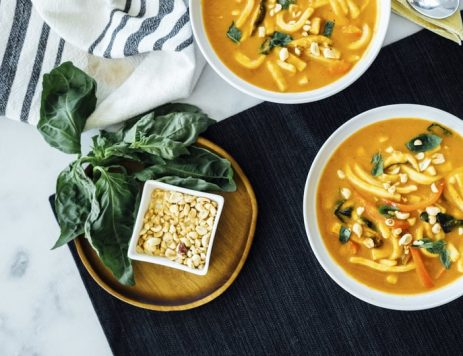 Thai Curry Pumpkin Noodle Soup